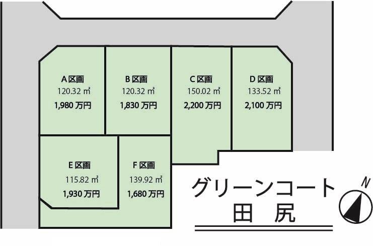 グリーンコート田尻区画図/