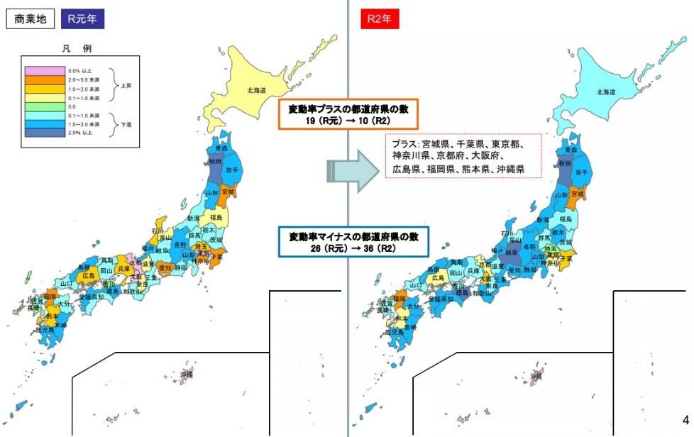 都道府県地価調査商業地